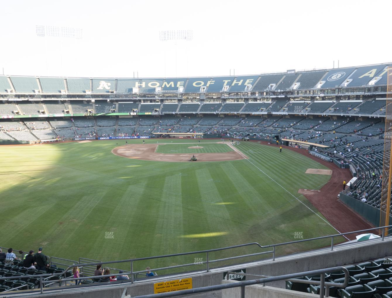 Oakland Athletics at RingCentral Coliseum Section 234 View