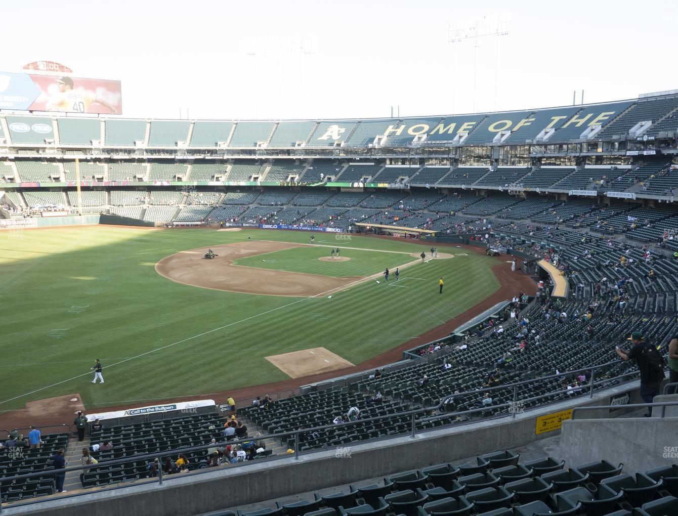 Oakland Athletics at RingCentral Coliseum Section 228 View
