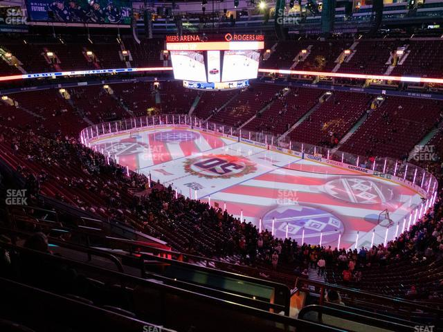 Rogers Arena Section 320 view