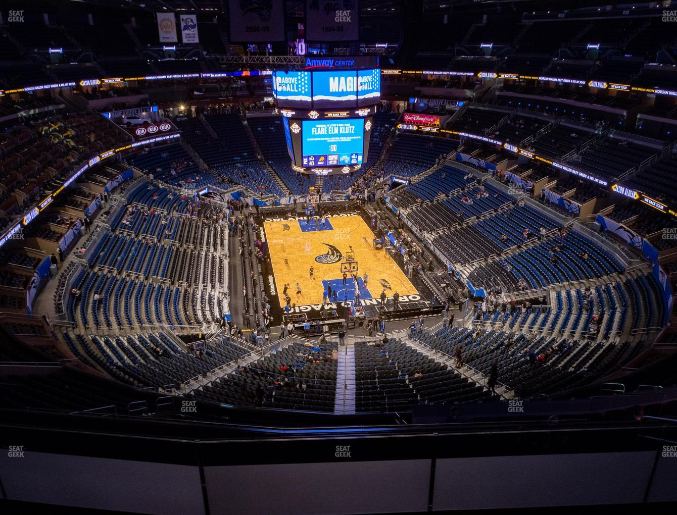 Orlando Magic at Amway Center Section 218 View