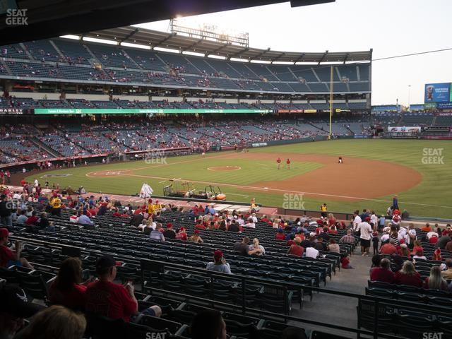 Angel Stadium of Anaheim Section 225 view