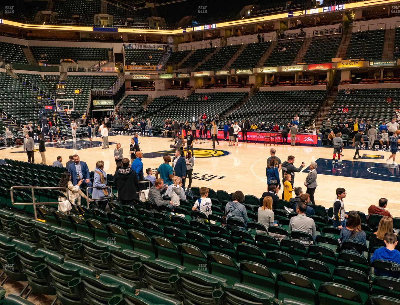 Indiana Pacers at Bankers Life Fieldhouse Section 15 View