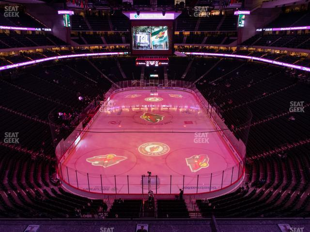 Xcel Energy Center Section Club 16 view