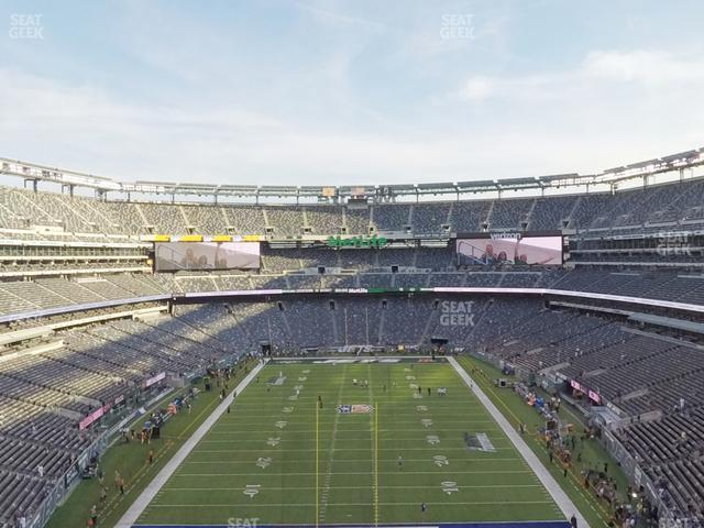 MetLife Stadium Section 201 view