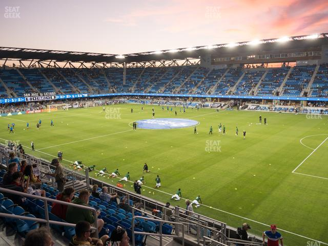 Earthquakes Stadium Section 134 view