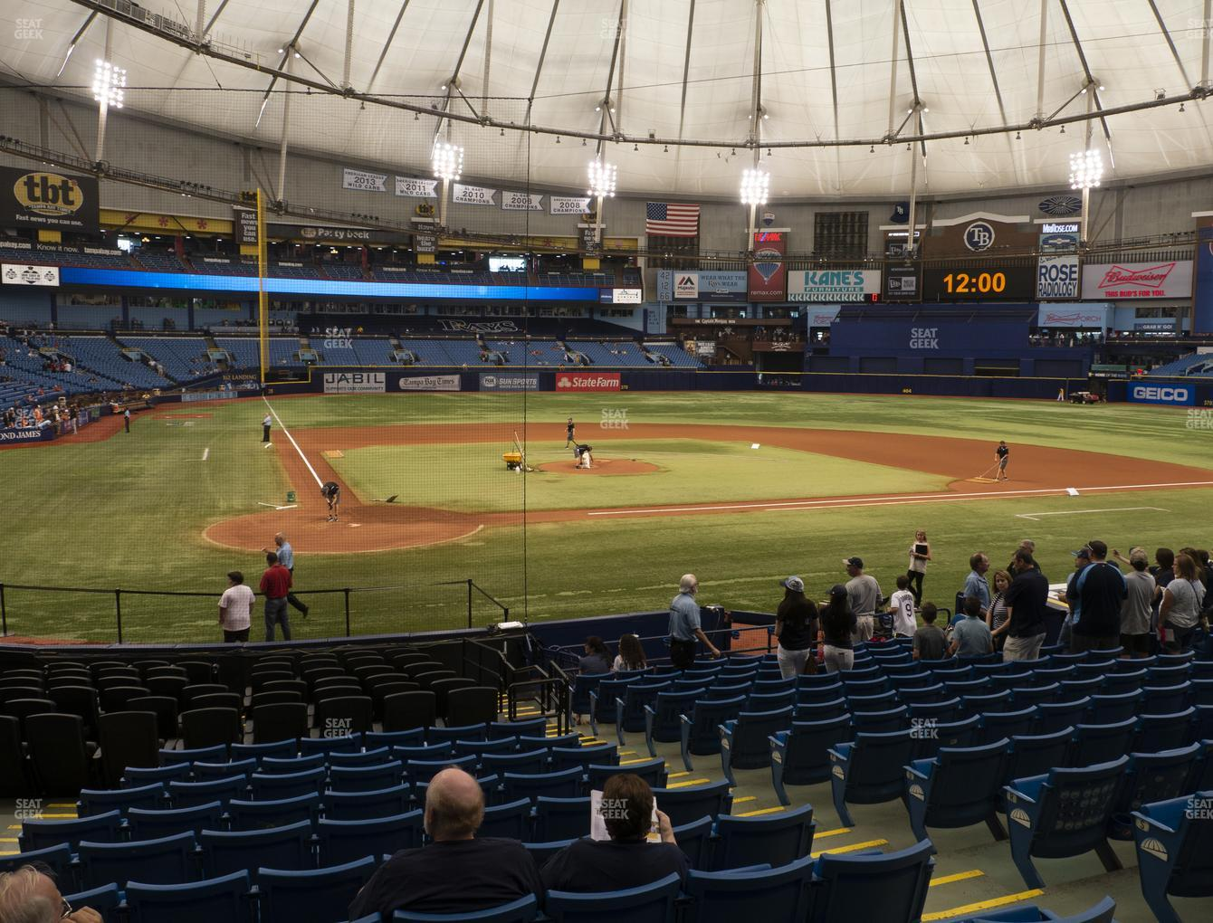 Tampa Bay Rays at Tropicana Field Section 106 View