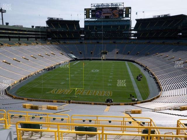 Lambeau Field Section 302 view