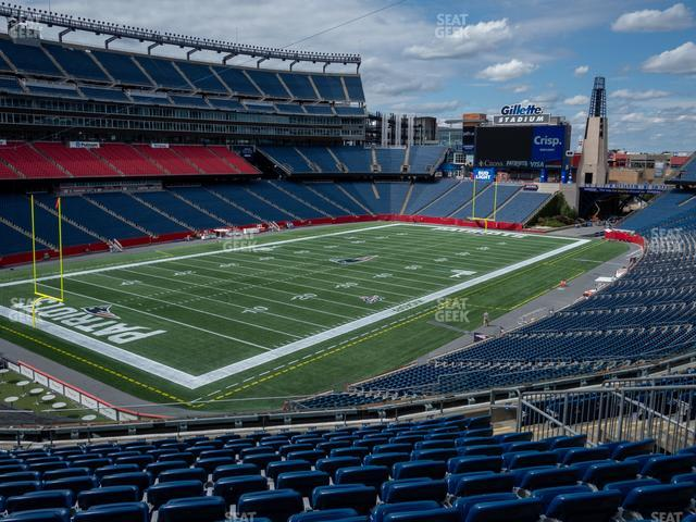 Gillette Stadium Section 216 view