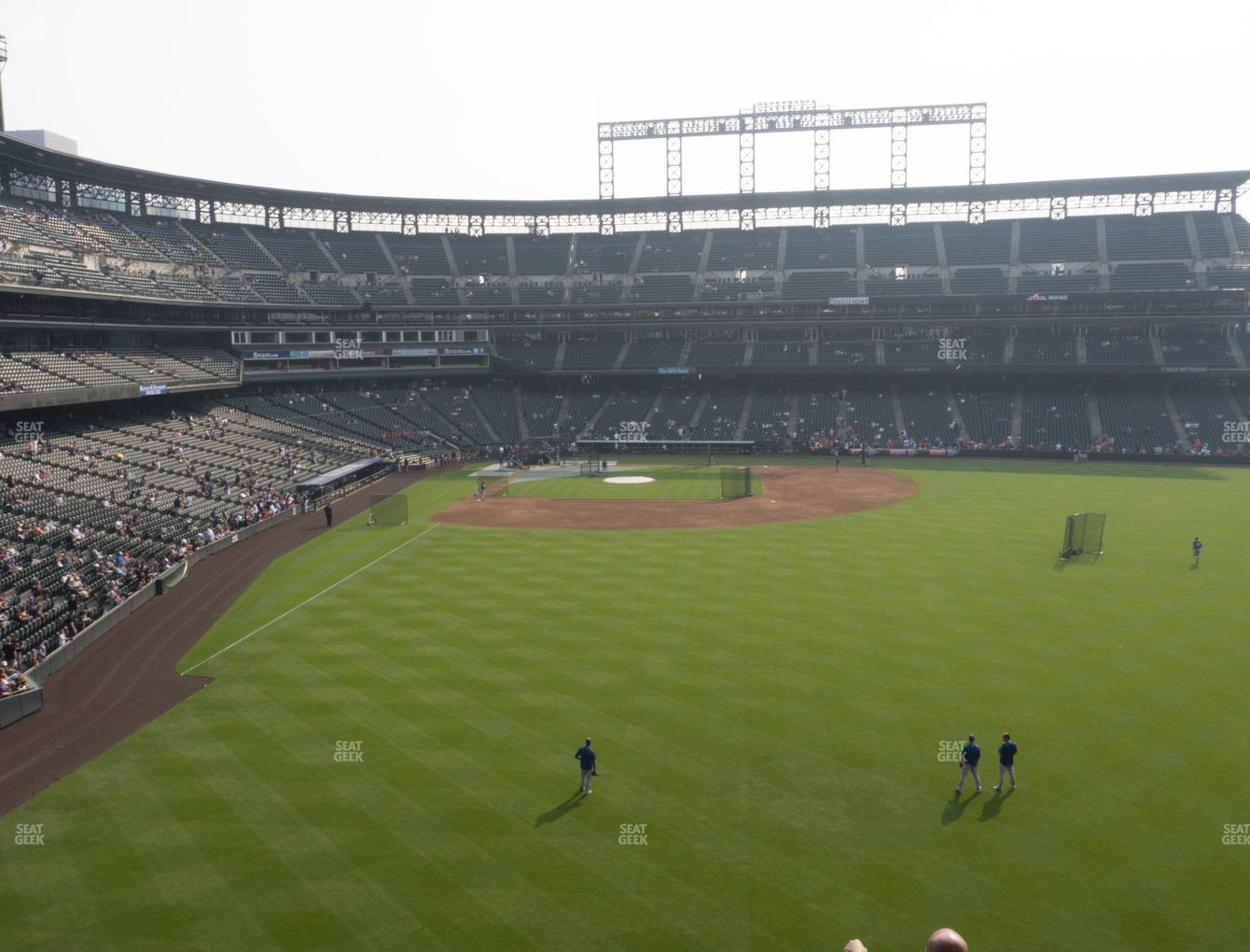 Colorado Rockies at Coors Field Section 206 View
