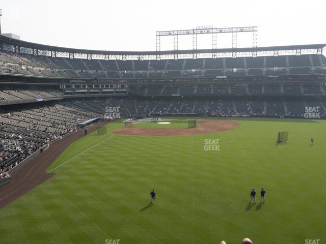 Coors Field Section 206 view