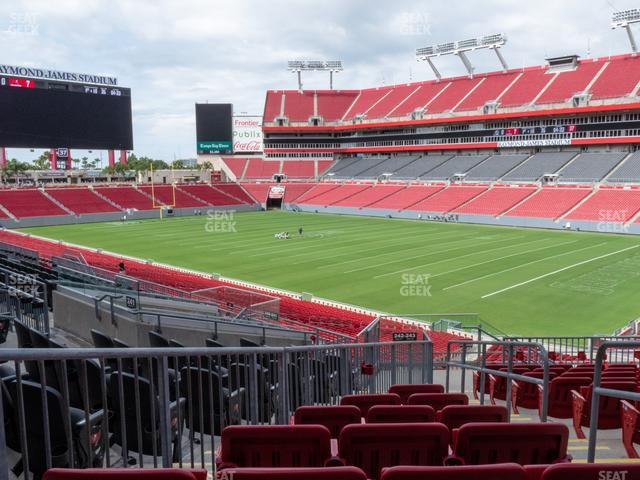 Raymond James Stadium Section 242 view