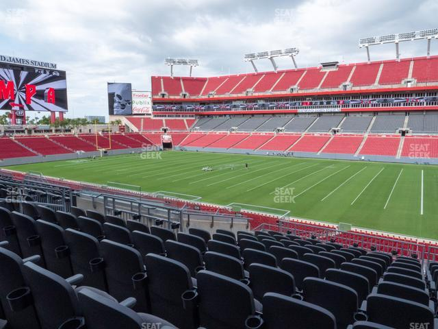 Raymond James Stadium Section 239 view