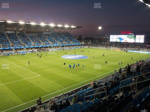 Earthquakes Stadium Section 124 view