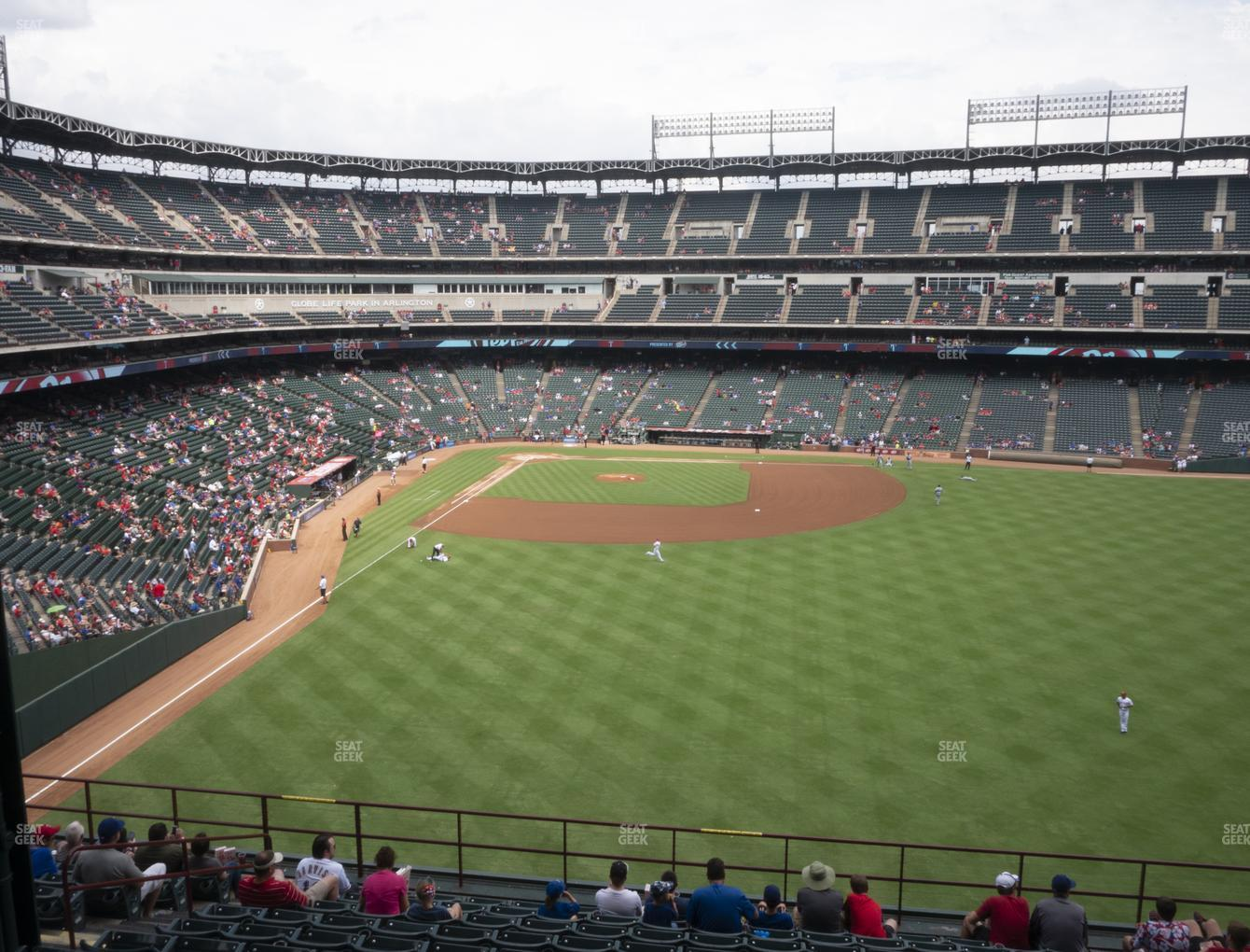 Texas Rangers at Globe Life Park Section 248 View