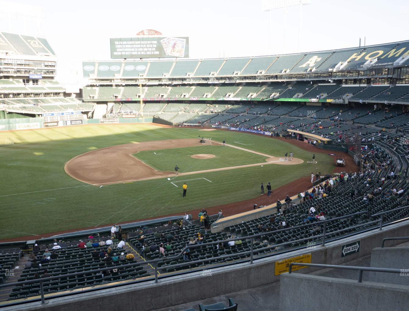 Oakland Athletics at RingCentral Coliseum Section 224 View