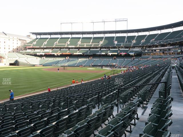 Oriole Park at Camden Yards Section 70 view