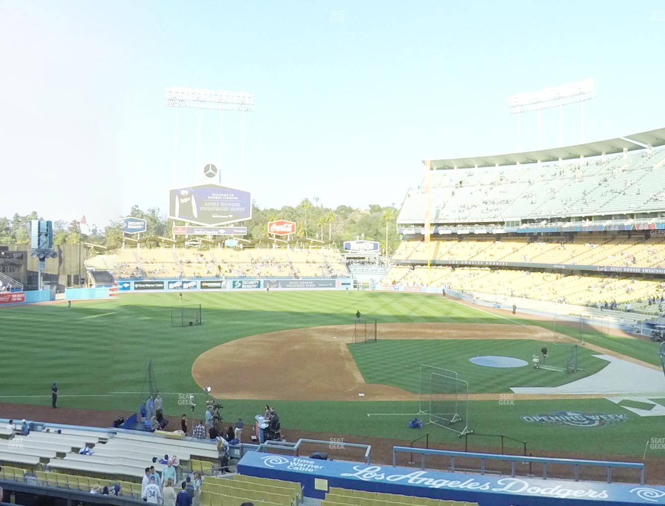 Los Angeles Dodgers at Dodger Stadium Loge Box 133 View