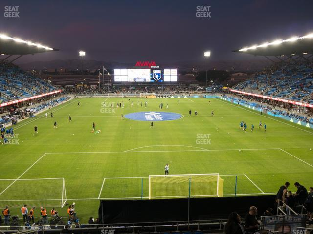 Earthquakes Stadium 117 Supporters Reserved view