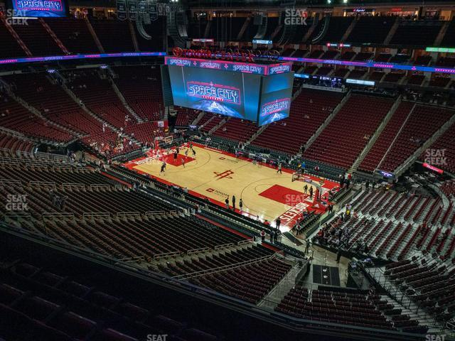 Toyota Center Section 406 view