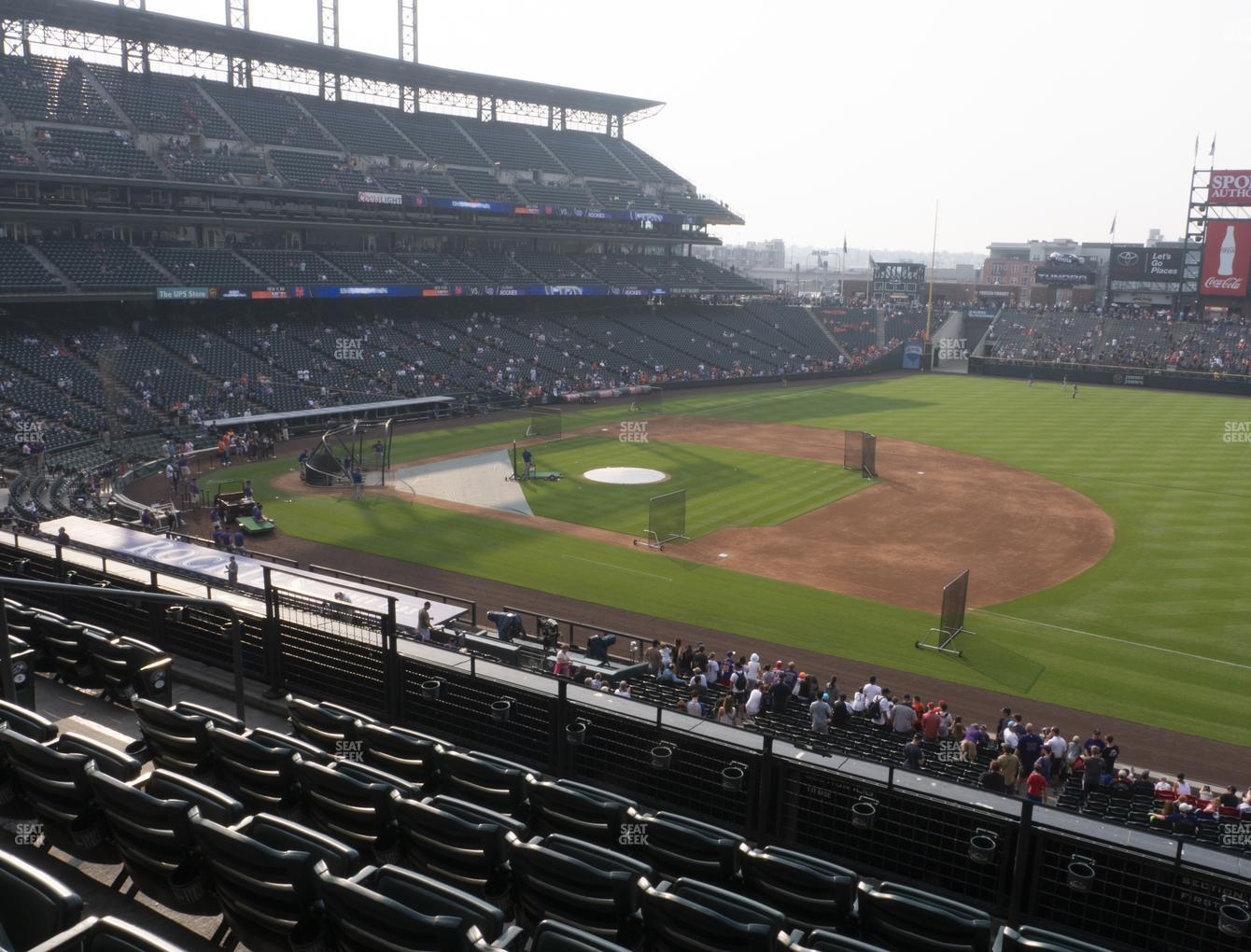 Colorado Rockies at Coors Field Section 219 View