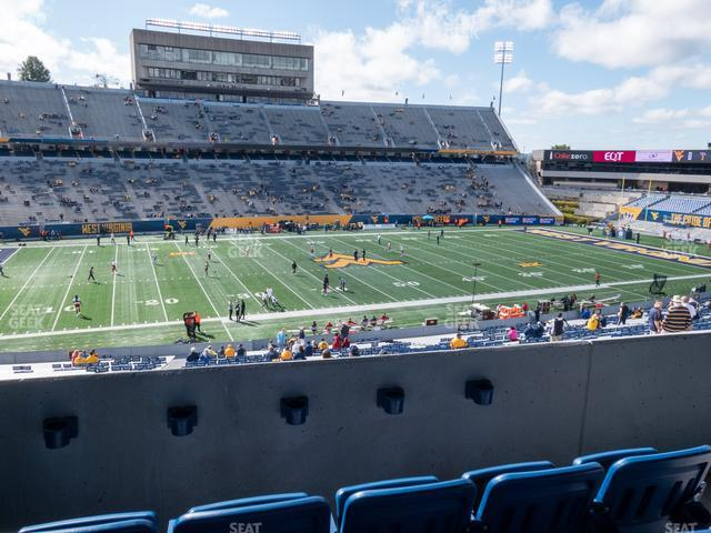 Mountaineer Field at Milan Puskar Stadium Field Box 12 view