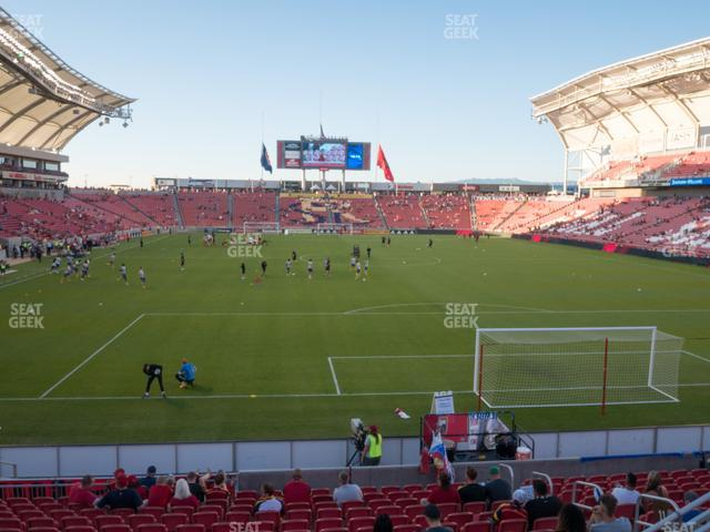Rio Tinto Stadium GA Supporter view