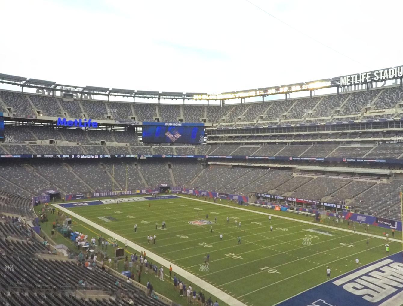 New York Jets at MetLife Stadium Section 232 A View