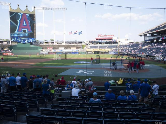 Kauffman Stadium Section 124 view
