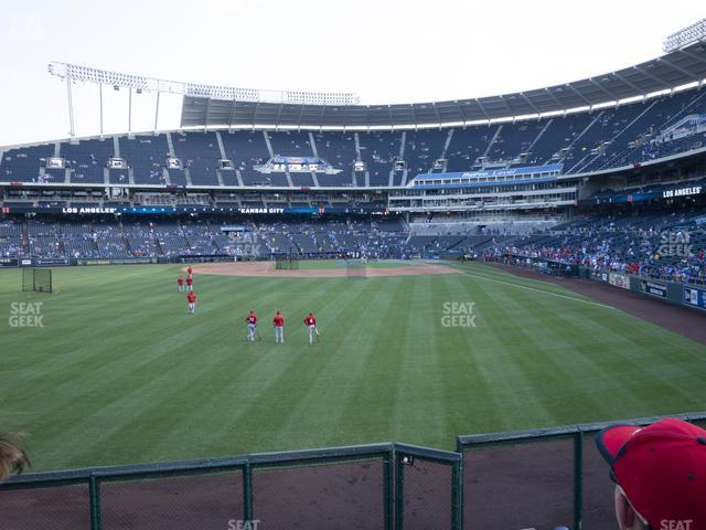 Kauffman Stadium Section 104 view