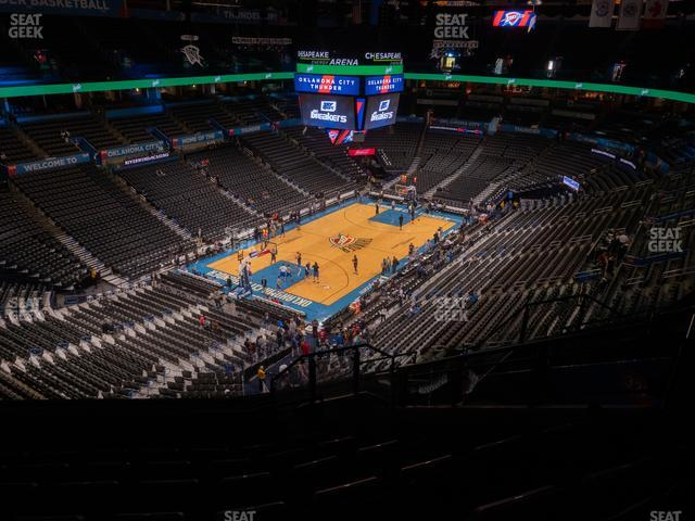 Chesapeake Energy Arena Section 328 view