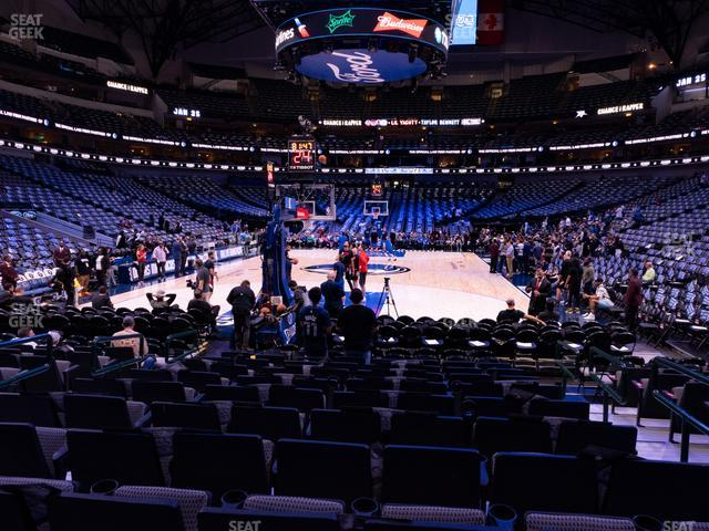 American Airlines Center Section 112 view