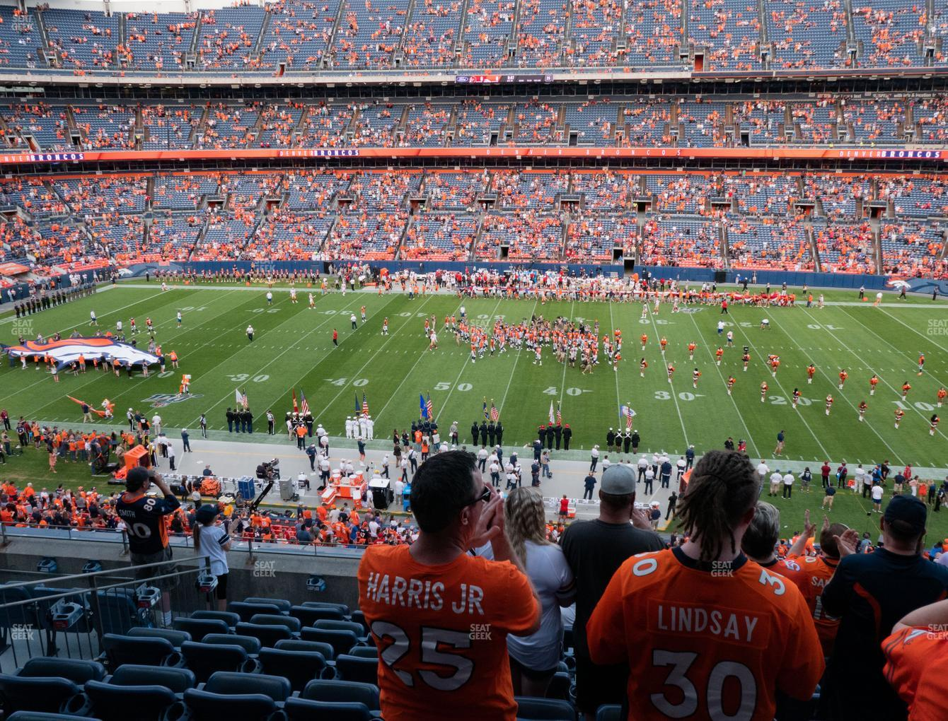 Denver Broncos at Empower FIeld at Mile High Section 308 View
