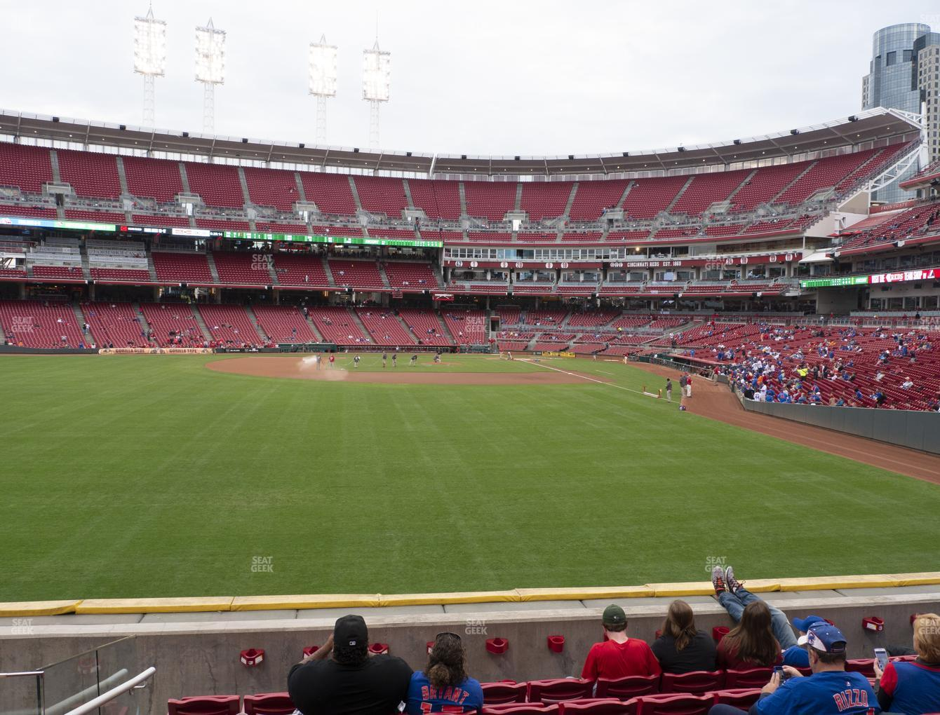 Cincinnati Reds at Great American Ball Park Section 104 View
