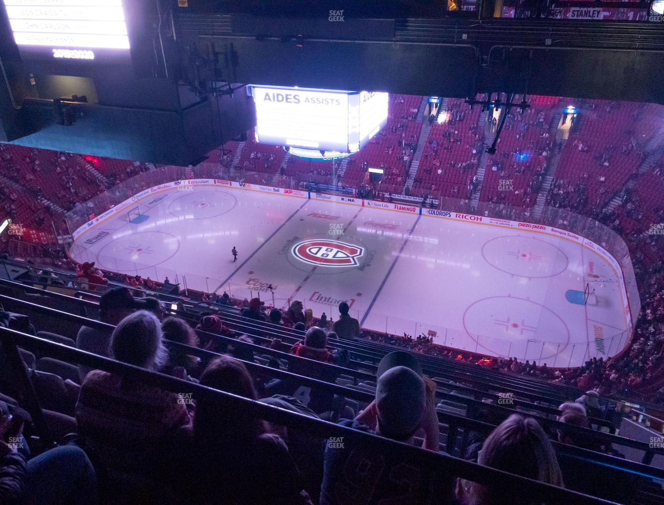 Montreal Canadiens at Bell Centre Section 417 View