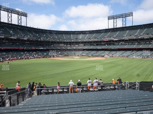Oracle Park Bleachers 143 view