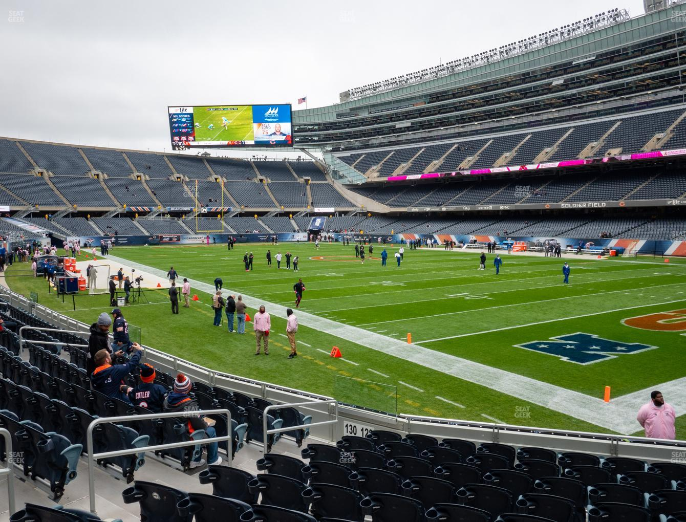 Chicago Bears at Soldier Field Section 128 View