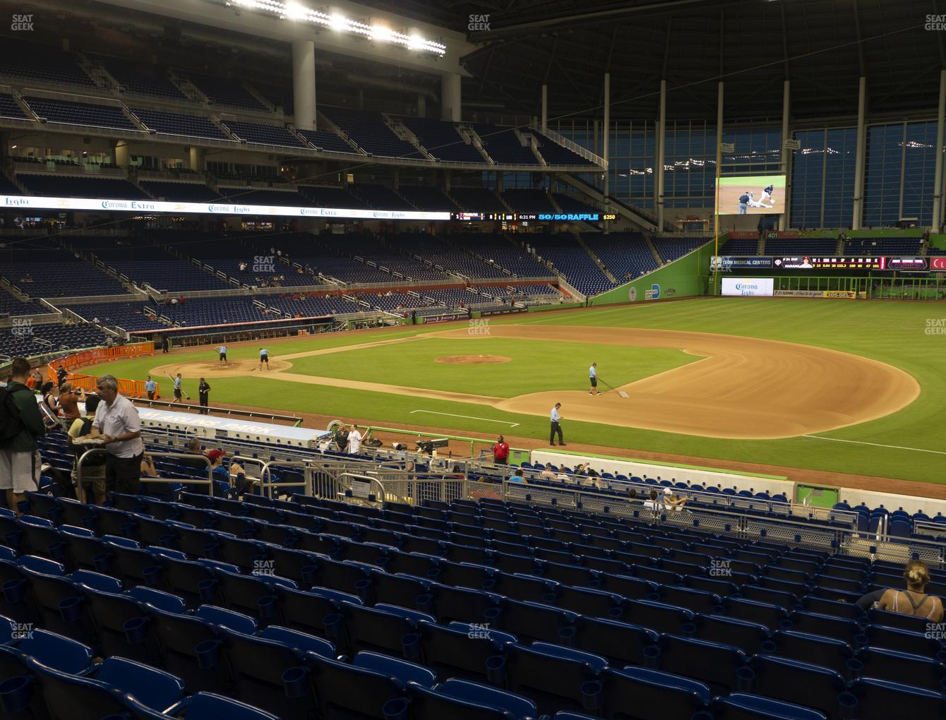 Miami Marlins at Marlins Park Section 7 View
