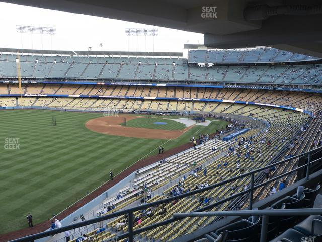 Dodger Stadium Section Club 249 view