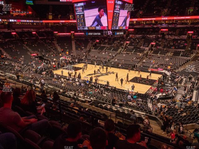 AT&T Center Section 105 view