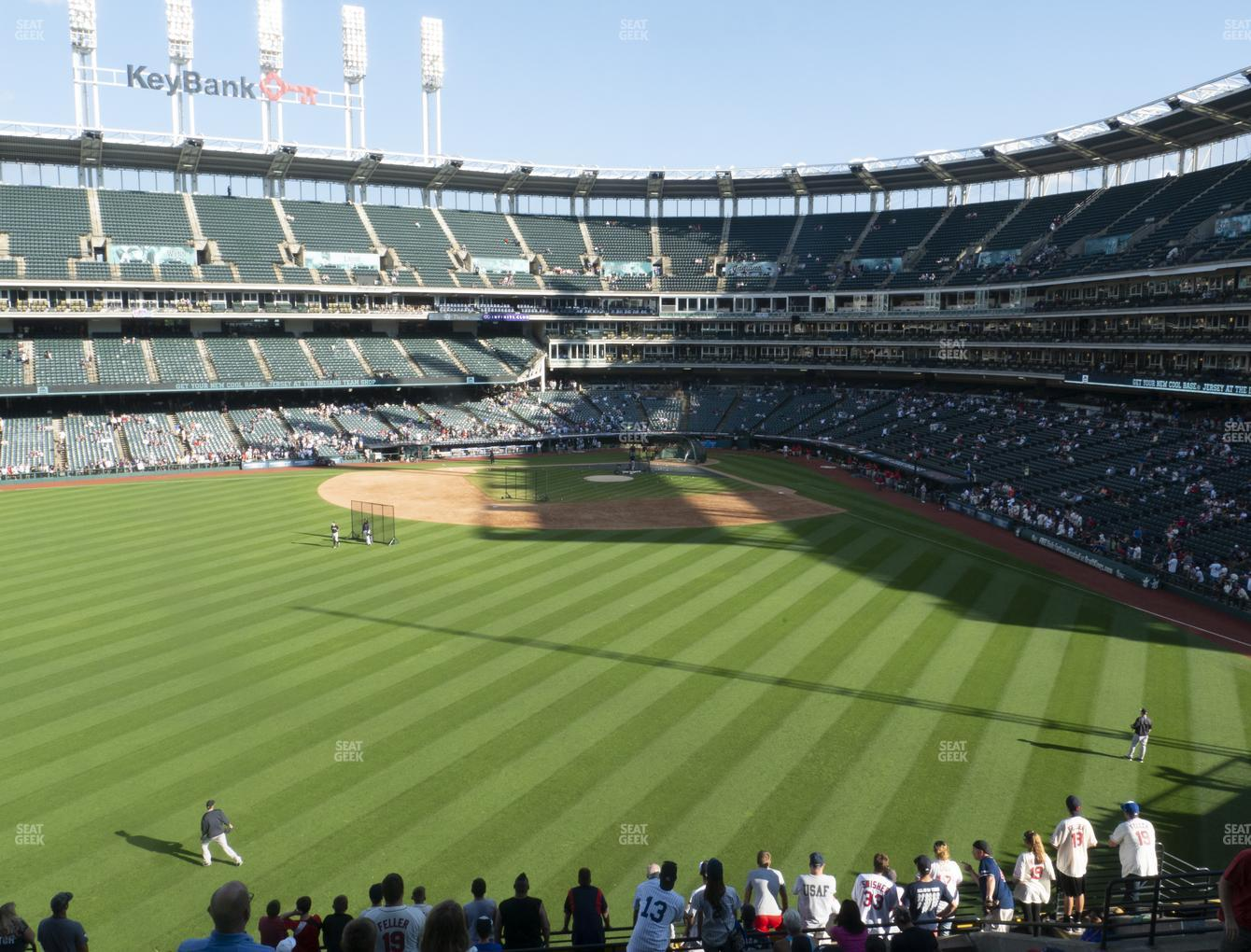 Cleveland Indians at Progressive Field Section 182 View