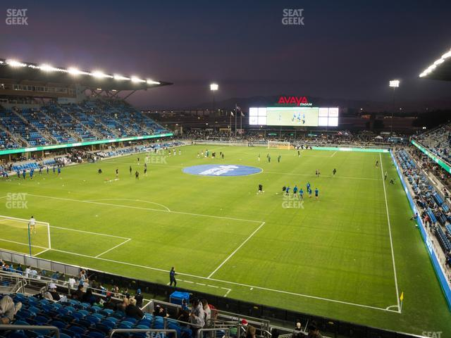 Earthquakes Stadium Section 121 view