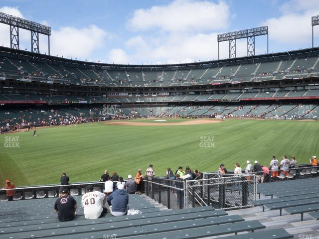 Oracle Park Bleachers 144 view