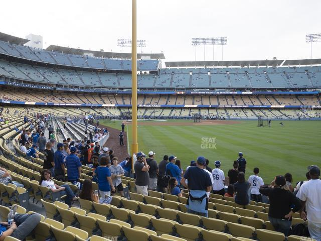 Dodger Stadium Field Box 50 view