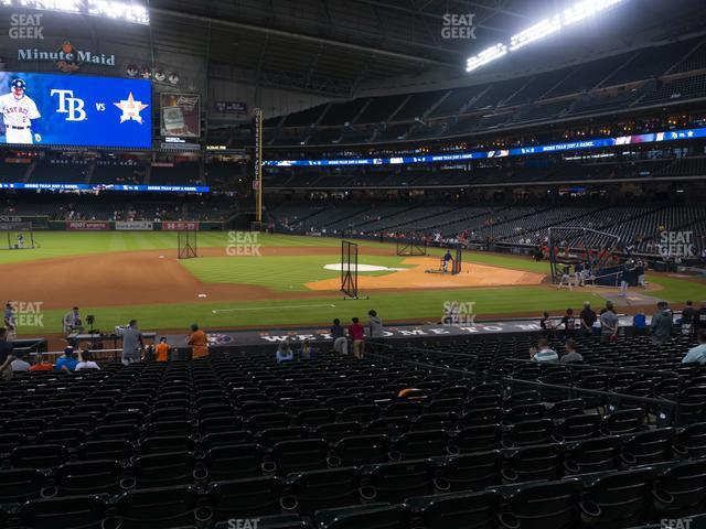 Minute Maid Park Section 112 view