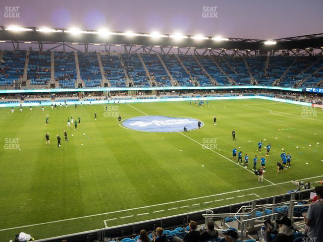 Earthquakes Stadium Section 104 view