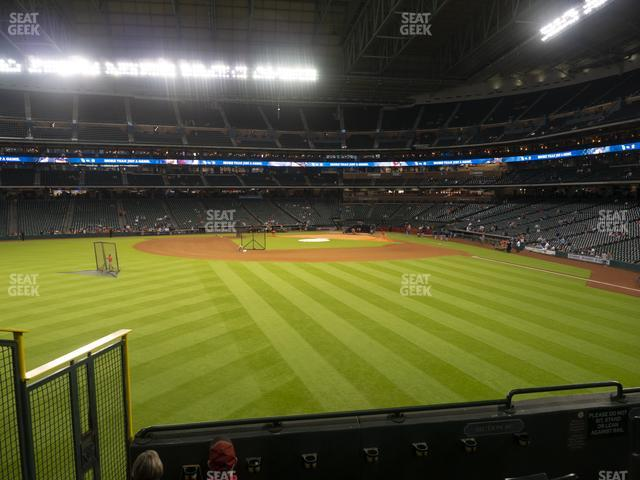 Minute Maid Park Section 100 view