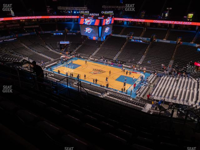 Chesapeake Energy Arena Section 306 view