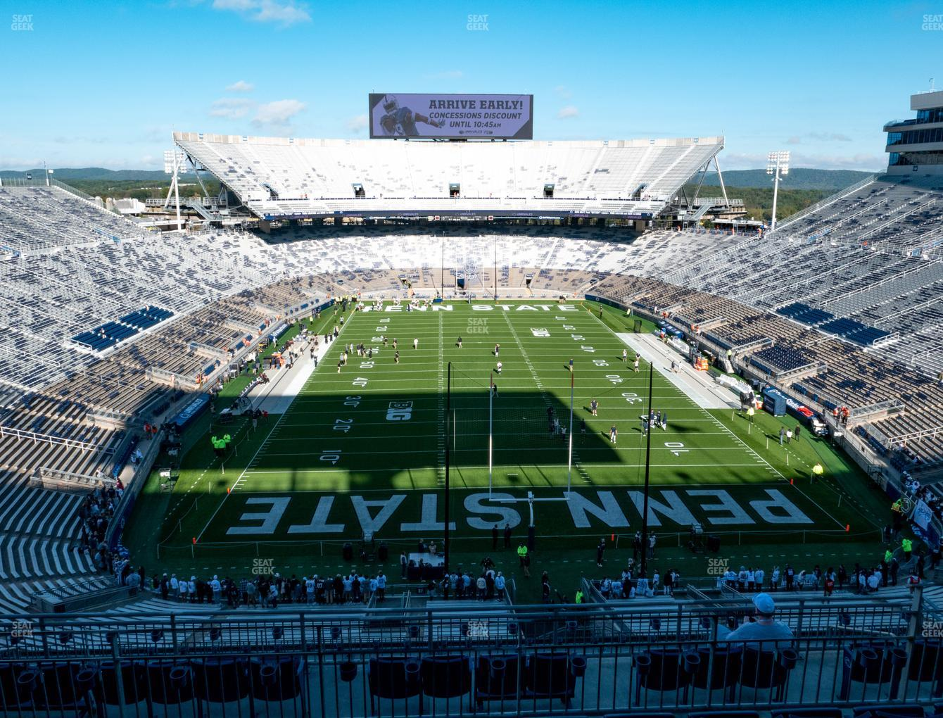 Penn State Nittany Lions Football at Beaver Stadium South F Club View