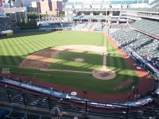 Progressive Field Section 458 view