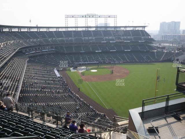 Coors Field Upper 310 view